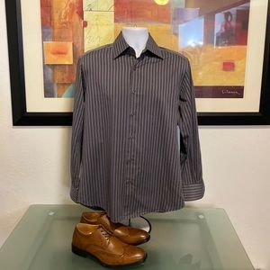 HUGO BOSS Striped Men's Dress Shirt 15 32/33